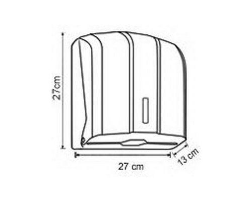 Диспенсер листовых полотенец Z, V пластик белый Vialli K.4