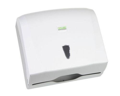 Диспенсер листовых полотенец Z, V пластик, белый, Vialli K.40