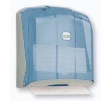 Диспенсер листовых полотенец Z, V пластик, прозрачный, Vialli K.4-T