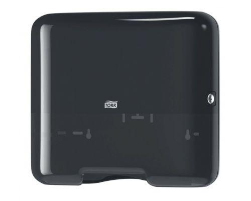 Диспенсер мини листовых полотенец H3, V пластик черный Tork 553108