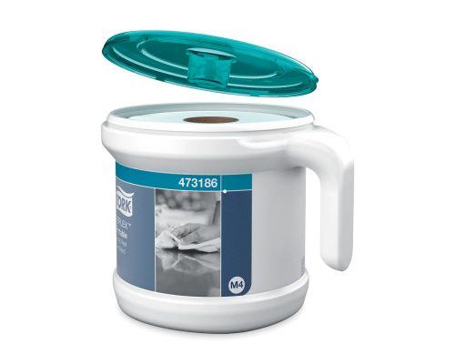 Диспенсер рулон полотенец с цен. витяж. Performance M4, пластик белый (+1 рулон), Tork Reflex 473186
