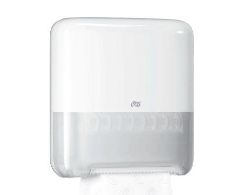 Диспенсер рулонных полотенец Elevation H1, пластик белый, Tork Matic 551000