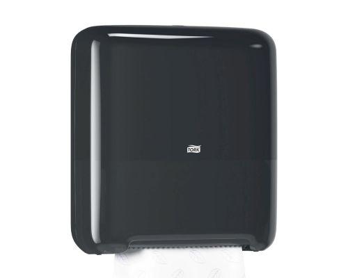 Диспенсер рулонных полотенец Elevation H1, пластик черный, Tork Matic 551008