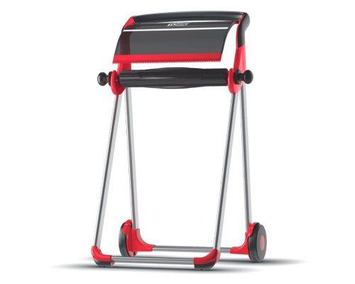 Диспенсер для нетканых материалов напольный W1, красно-черный, Tork 652008