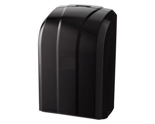 Диспенсер листовой туалетной бумаги пластик, черный, Vialli K.6-Z-B