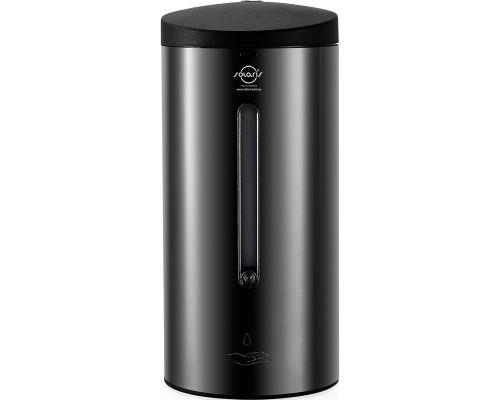 Дозатор жидкого мыла и дез.средств автомат. нерж. черный (0,7л), ZG 1205B