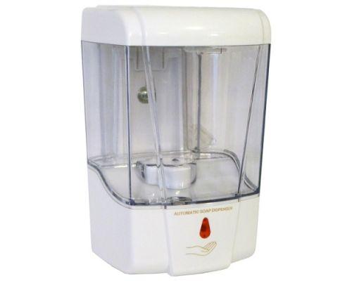 Дозатор жидкого мыла и дез.средств автомат. пластик, белый (0,7л), ZG 1605