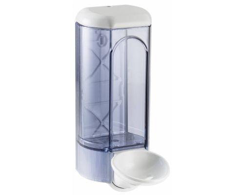 Дозатор жидкого мыла и дез.средств локтевой пластик, прозрачный (0,8л), Mar Plast 630med