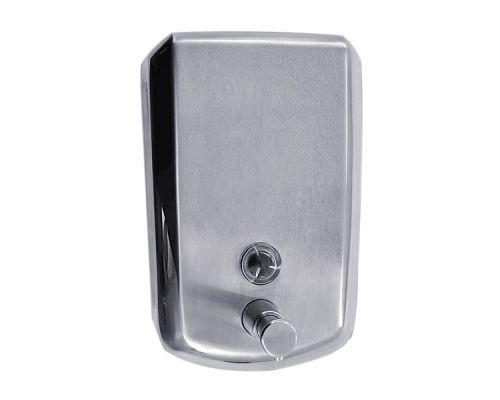 Дозатор жидкого мыла нерж, сатин, хром грани (0,5л), ZG-1602