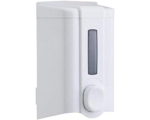 Дозатор жидкого мыла пластик, белый (1л), Vialli S.4
