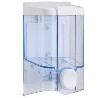 Дозатор жидкого мыла пластик, прозрачный (0,5л), Vialli S.2t