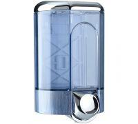Дозатор жидкого мыла пластик, прозрачный хром (1,1л), Mar Plast 563s