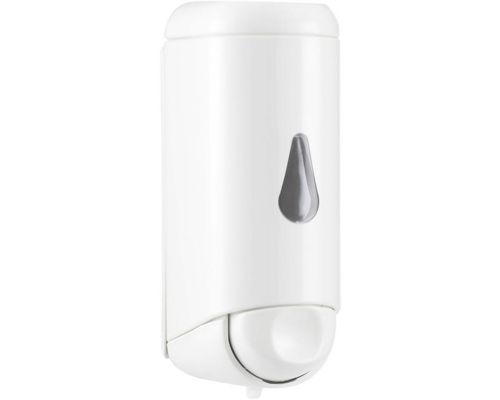 Дозатор жидкого мыла с окошком пластик, белый (0,17л), Mar Plast 583win