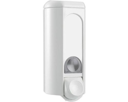Дозатор жидкого мыла с окошком пластик, белый (0,8л), Mar Plast 562win