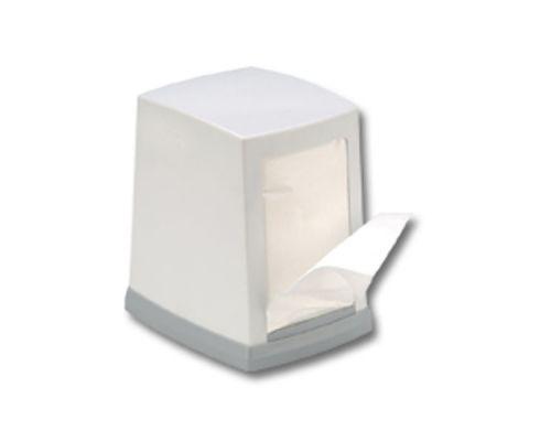 Диспенсер салфеток столовых пластик, белый, Vialli NP.100