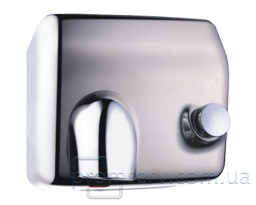 Электросушилка для рук с кнопкой нерж, хром, ZG 912-BT