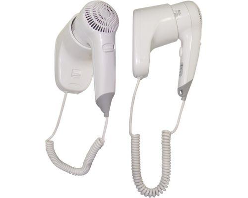 Фен для волос гостиничный без розетки, пластик, белый, ZG-1002