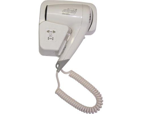 Фен для волос гостиничный c розеткой пластик, белый, ZG 2000Е