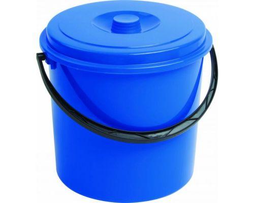 Ведро круглое с ручкой и крышкой пластик (12л), CUR 3207
