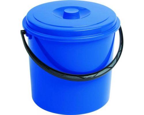 Ведро круглое с ручкой и крышкой пластик (16л), CUR 3208