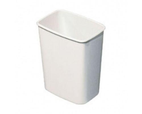 Ведро мусорное без кронштейна и крышки пластик, белое, (8л) Mar Plast 579