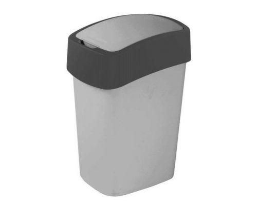 Ведро мусорное с крышкой FLIP BIN пластик 10л CUR 02170