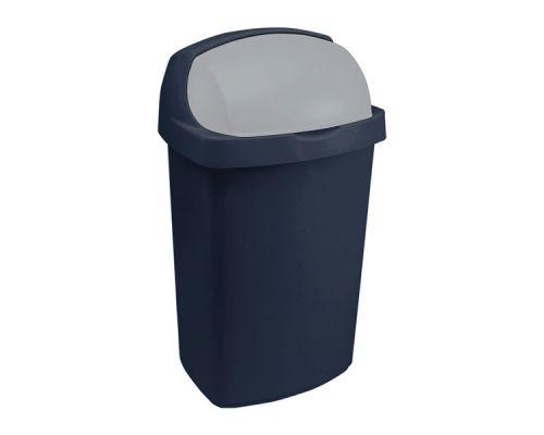 Ведро мусорное с плавающ.крышкой ROLL TOP пластик (50л), CUR 03977