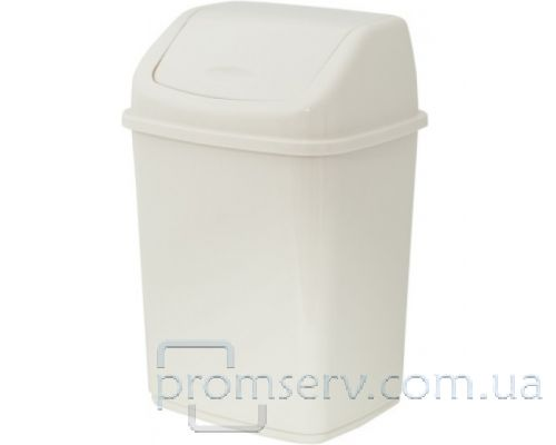 Ведро мусорное с плавающей крышкой Алеана пластик, белое (5л), 122061
