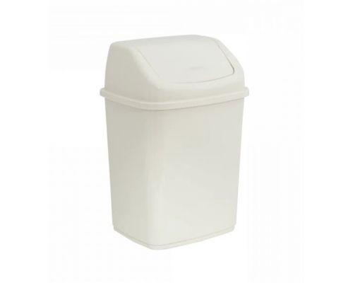 Ведро мусорное с плавающей крышкой пластик белое 10л Украина