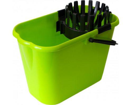 Ведро овальное с отжимом и ручкой пластик (12л), МЖ 8522CD