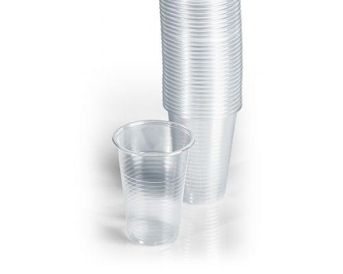 Стакан одноразовый пластиковый, 200мл (100шт/уп)