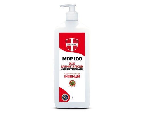 Моющее средство для посуды антибактериальное MDP 100 с дозатором (950мл), Medical Def