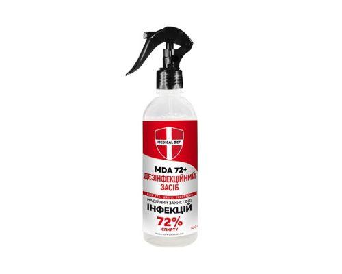 Дезинфицирующее средство MDA 72+ с распылителем (500мл), Medical Def