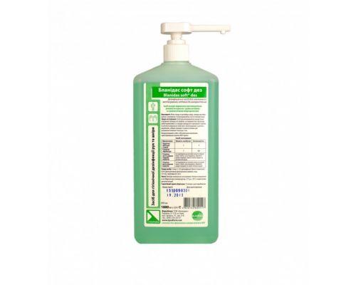 Мыло жидкое дезинфицирующее Бланидас софт дез с дозирующим устройством (1л)