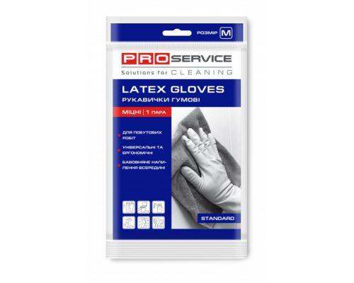 Перчатки хозяйственные латексные прочные (М), PROservice
