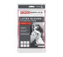 Перчатки хозяйственные латексные розовые Professional (L), PROservice