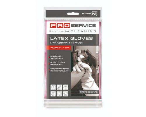 Перчатки хозяйственные латексные розовые Professional (M), PROservice