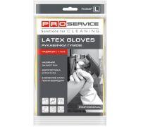 Перчатки хозяйственные латексные желтые Professional (L), PROservice