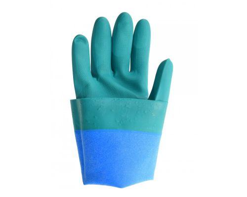 Перчатки нитриловые с х/б подкладкой КЩС 10р