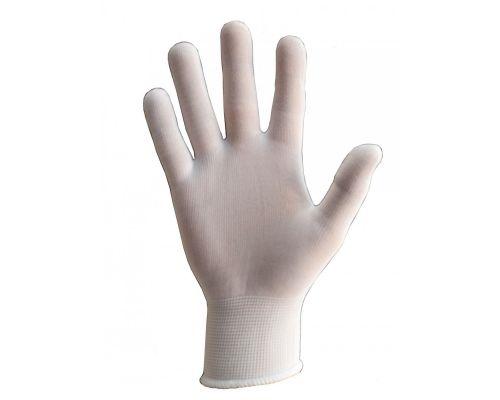Перчатки нейлоновые без покрытия TRIDENT SENSOR белые 8р класс 13