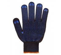 Перчатки трикотажные с ПВХ точкой BLACK, черные (кл.10)