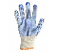 Перчатки трикотажные с ПВХ точкой POWER, белые (кл.7)