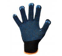 Перчатки трикотажные с ПВХ точкой POWER, черные (кл.7)