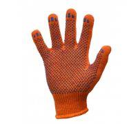 Перчатки трикотажные с ПВХ точкой STANDART, оранж. (кл.10)