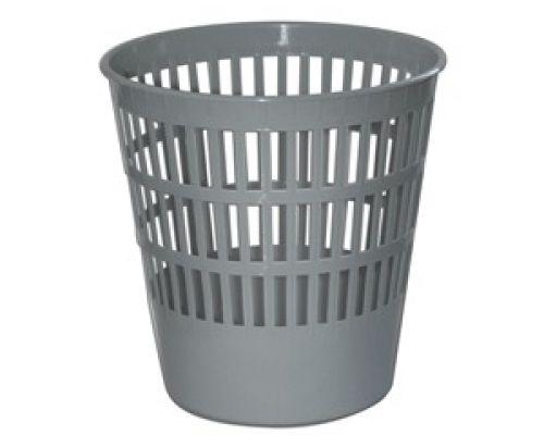 Корзина для бумаг BASICS пластик, серая (11л), CUR 2398
