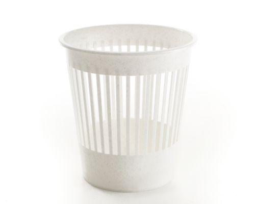 Корзина для бумаг пластик, белая (9л), Горизонт 16-00