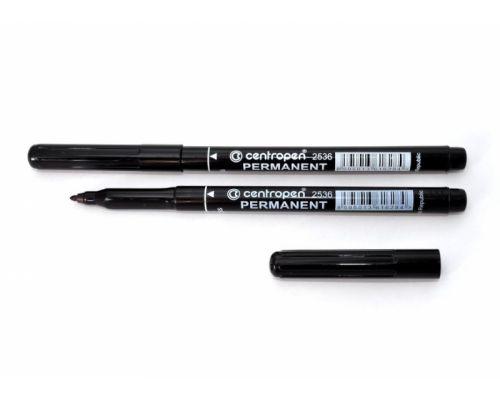 Маркер перманентный (1мм), черный (2536), Centropen